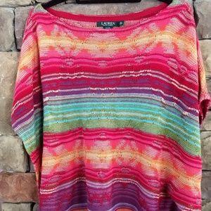 Lauren multi-colored poncho